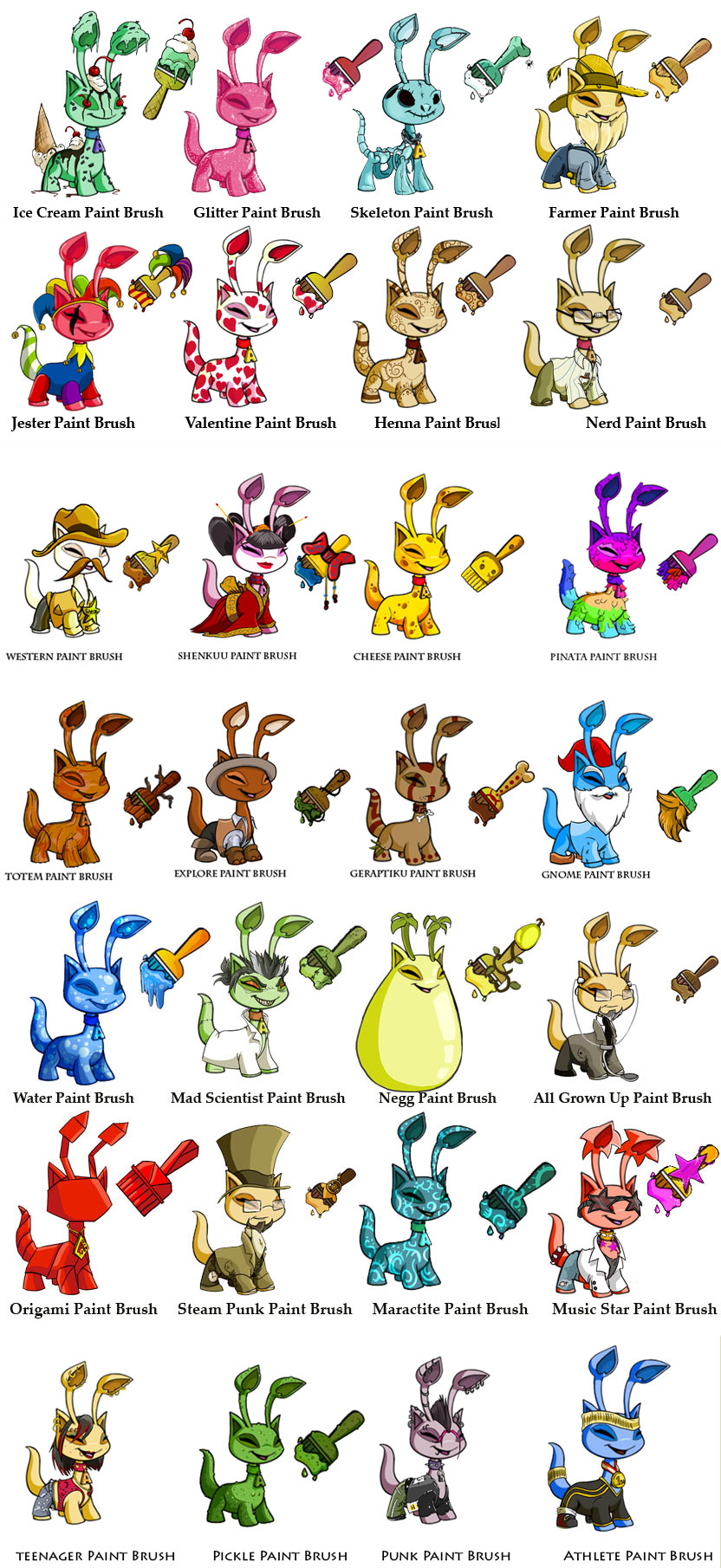 New Neopets Paint Brushes