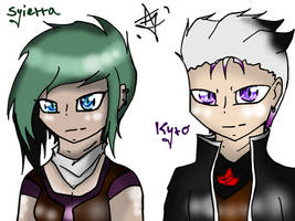 Human Syierra and Kyro by ArtisticJessy