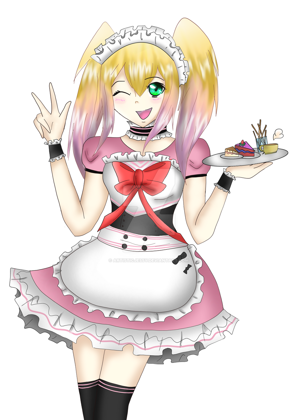 Maid Sakura ~ Cosplay Cafe picture by ArtisticJessy