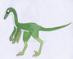 Female troodon by me