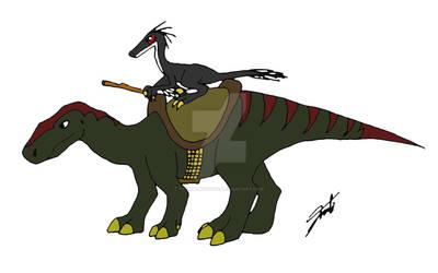 Troodon rider