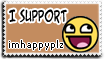 Stamp: Support imhappyplz by rockstarREMIX