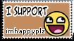 Stamp: Support imhappyplz by rockstarREMIX