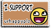 Stamp: Support urhappyplz by rockstarREMIX