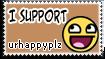 Stamp: Support urhappyplz by rockstarREMIX