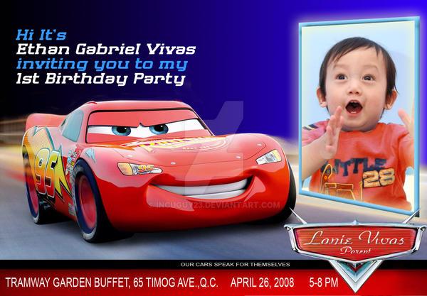 Cars Birthday Invitation By Incuguy23 On DeviantArt