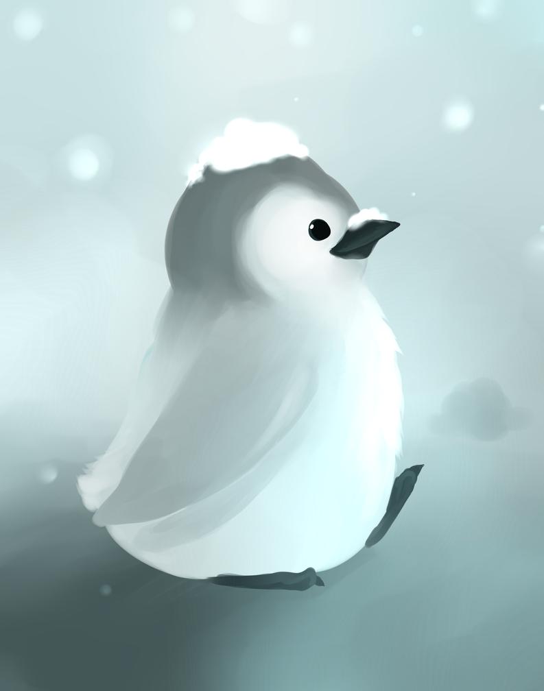 Baby penguin art - photo#7