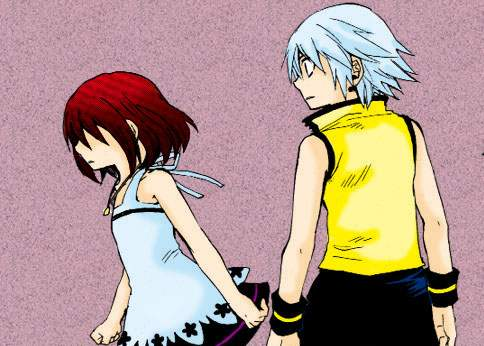 Kairi and Riku by rye25aura