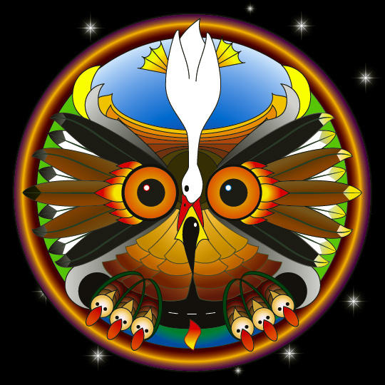 Hungry Owl Medicine Wheel by chontler