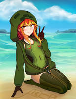 Cupa at the Beach by Destinyplayer1
