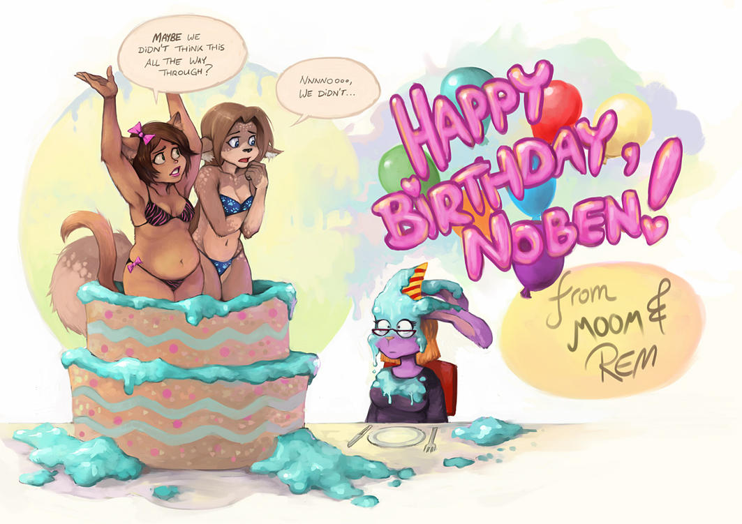 Happy Birthday Lady Images ~ Happy birthday noben by remainaery on deviantart