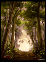 forest path sketch by Remainaery