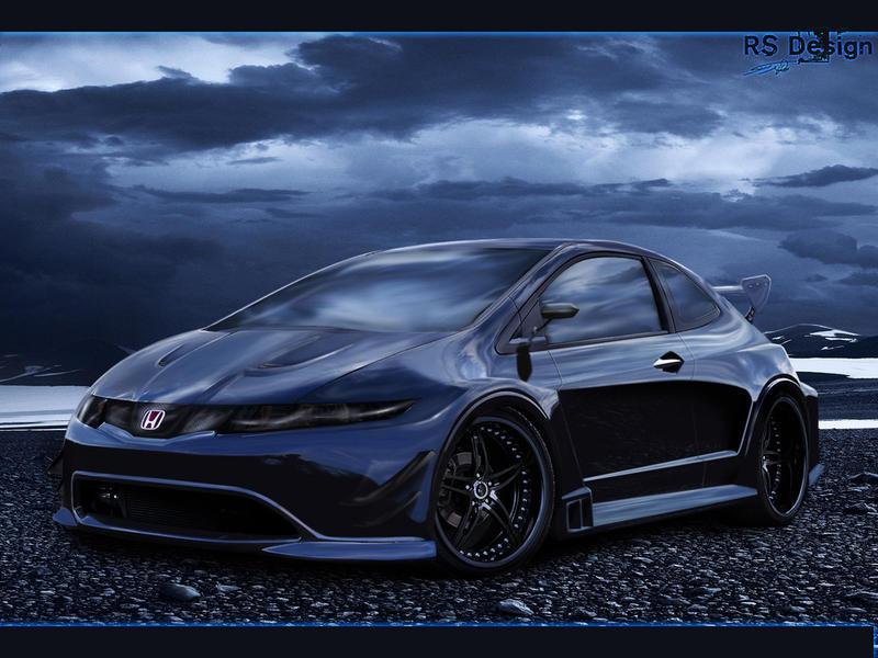 Honda Civic Blue dream by RS--Design