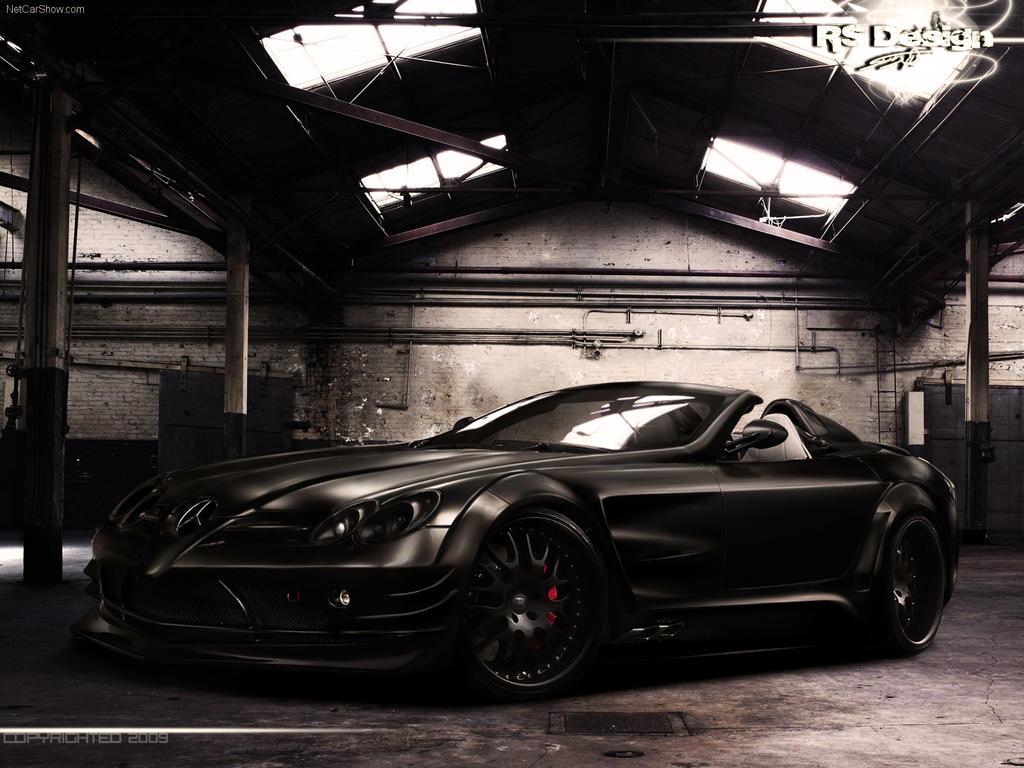 Mercedes benz slr black front by rs design on deviantart for Mercedes benz black on black