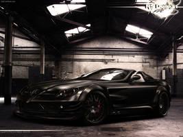 Mercedes Benz SLR Black- front by RS--Design