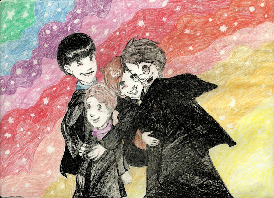 Moony, Wormtail, Padfoot and Prongs by halaG on DeviantArt