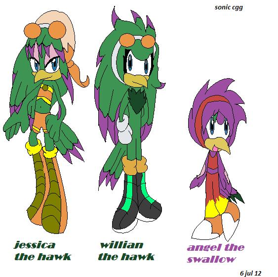 Jet The Hawk And Wave The Swallow http   cristinathehedgehog    Jet And Wave