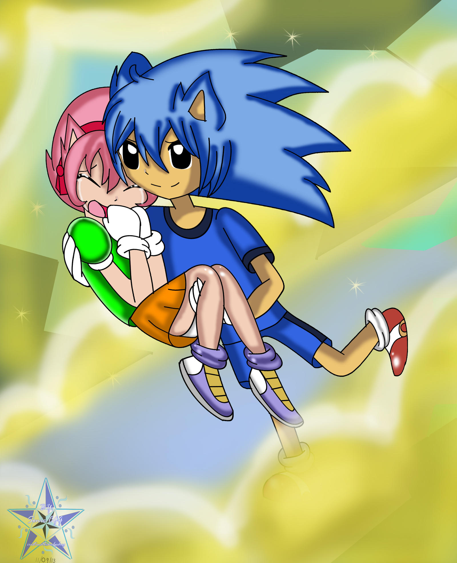 Comm Kyleboy21-Sonic CD Classic SonicXclassic Amy By