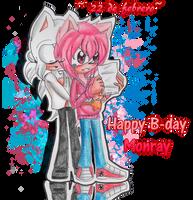 WYaoi:.Happy B-day Monray 18 Th (re subido ):. by cristinathehedgehog