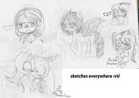 More sketches :B by cristinathehedgehog