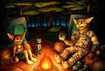 Commission - Out Camping