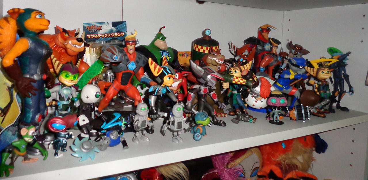 Video Game Figure Collection by Lurking-Leanne