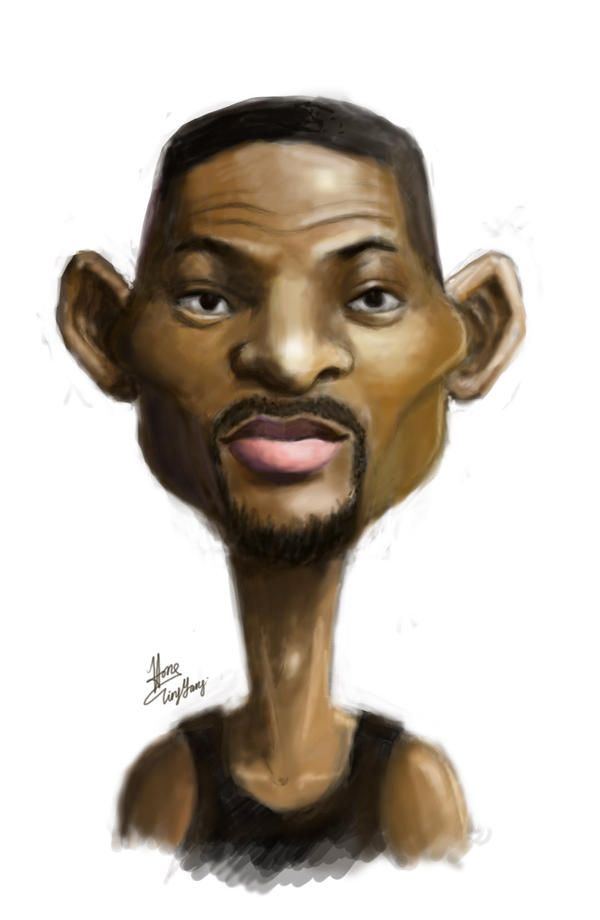 Caricature of Will Smith by cheatingly