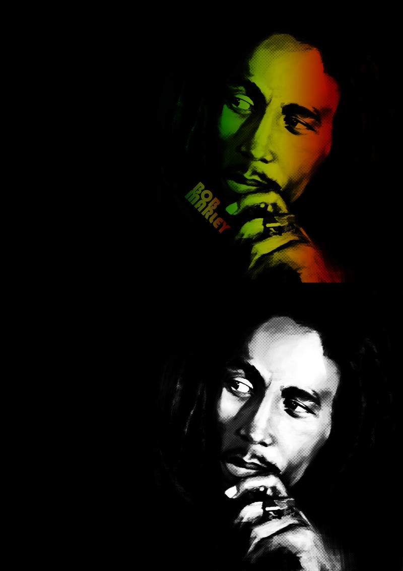 Bob Marley Black And White By Cheatingly