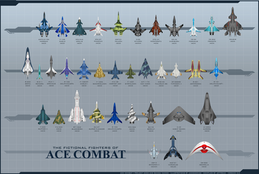 The Fighters of Ace Combat by Jetfreak-7