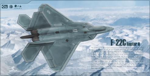 Ace Combat 3 - F-22C Raptor II by Jetfreak-7