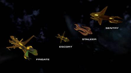 Species 8472 Ships 1 by Jetfreak-7