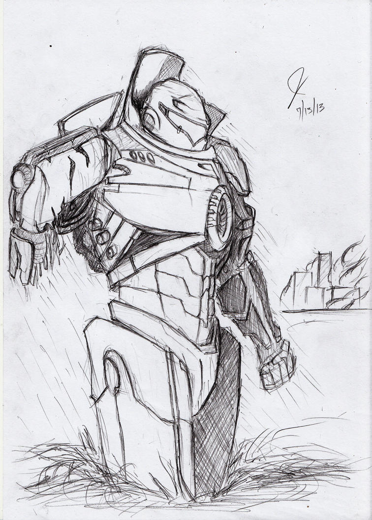 Gipsy Danger (Pacific Rim) by yagitka on DeviantArt Pacific Rim Gipsy Danger Drawing