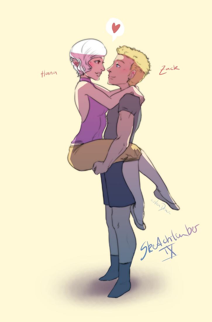 Sketchtember IX - Hana and Zack by Ven-Drace