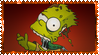 Zombie Bart Stamp by ginacartoon