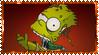 Zombie Bart Stamp by ginacartoon