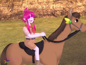 EB: I'm on a horse!