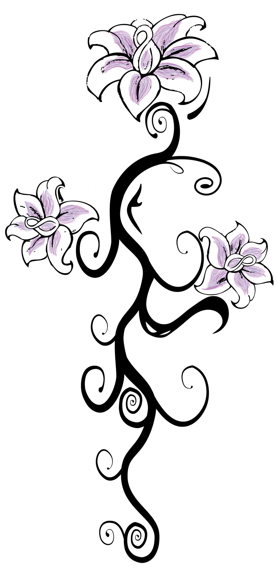 Flower back tattoo by ladysilver2267 on deviantart for Back tattoo flower designs