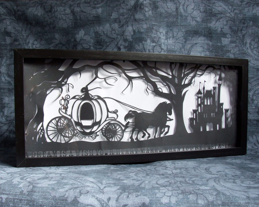 Cinderella's Dream Hand Cut Papercut by ladysilver2267