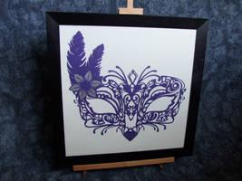 Framed Venetian Mask by ladysilver2267