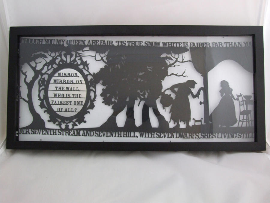 Snow White Papercut by ladysilver2267