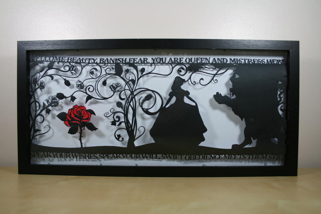 The Beauty of a Beast Papercut by ladysilver2267