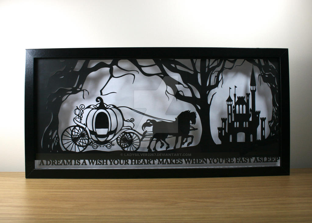 Cinderella's Dream Papercut by ladysilver2267