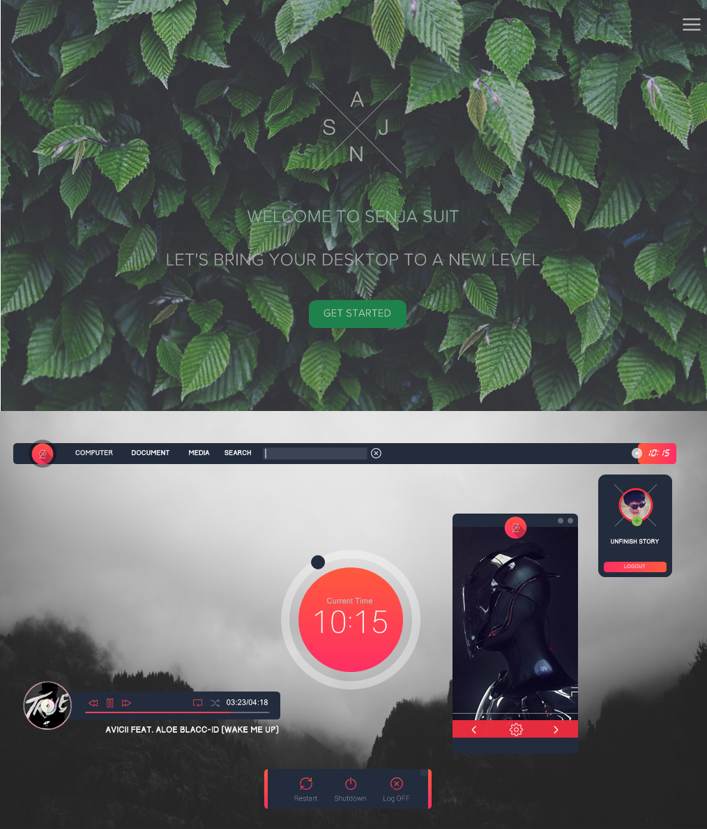 Senja v 1.0 xwidget skin by unfinishstory