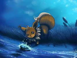 Pokemon : Evee and water stone