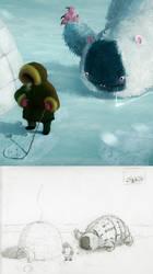Eskimo Hunter detail