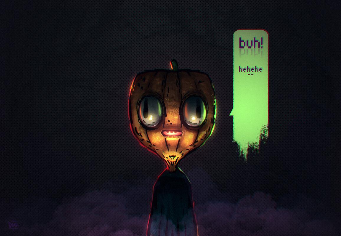 Super modern halloween dude by Dumaker