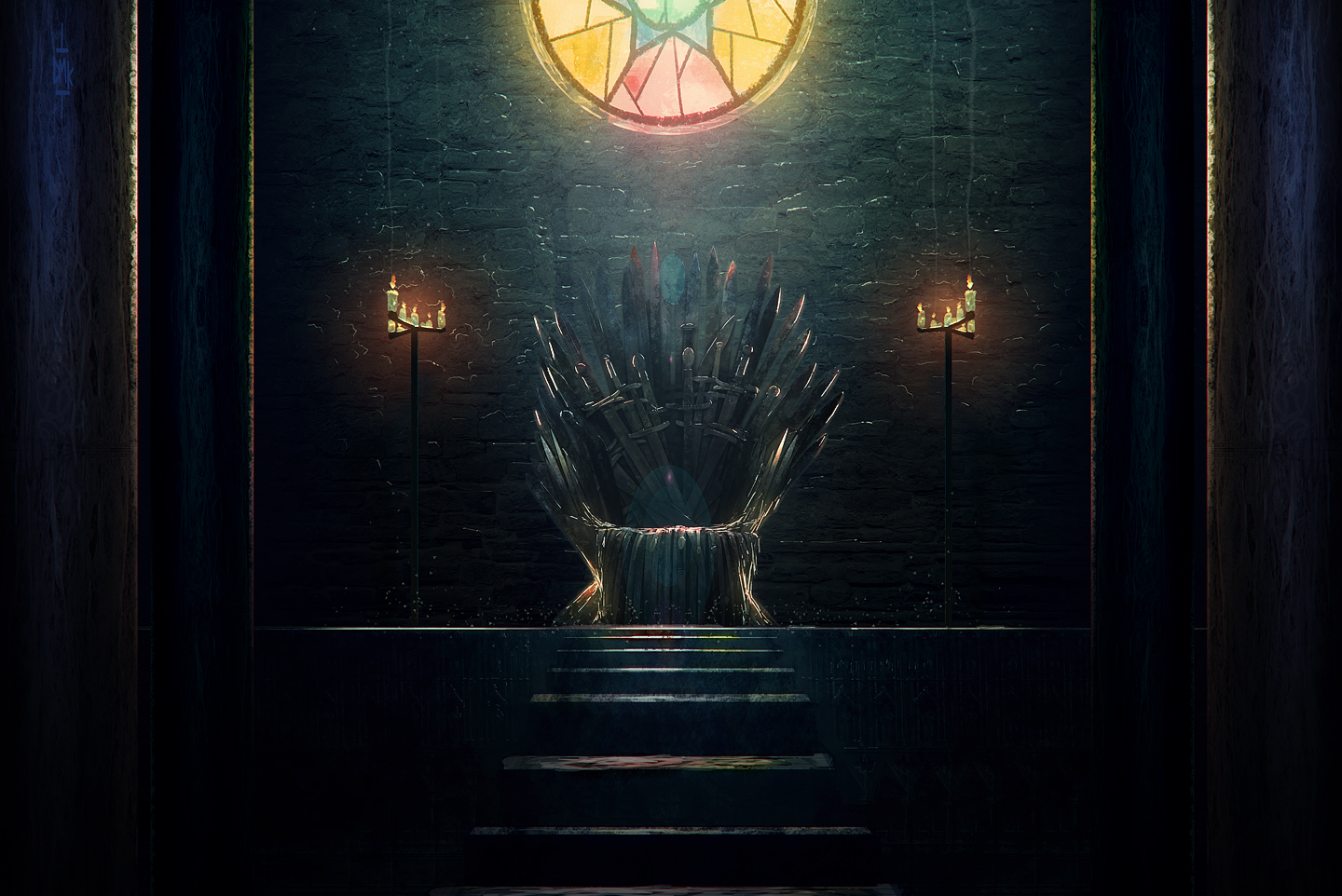 Looking for the iron throne game of thrones 9 by dumaker for Iron throne painting