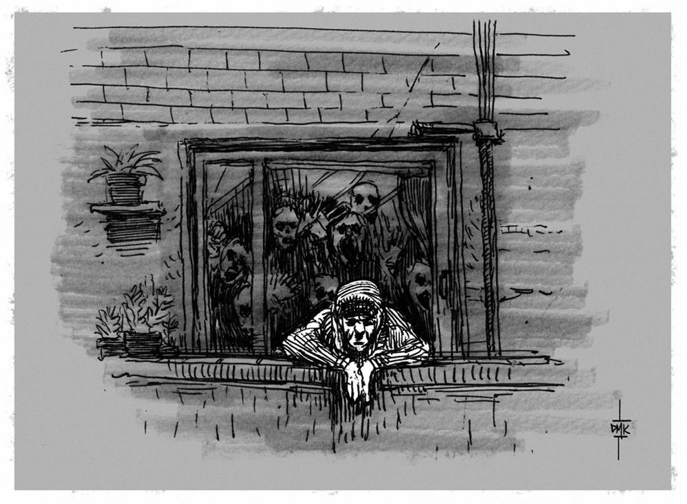 Inktober #2 - 30 days of Zombie Apocalypse by Dumaker