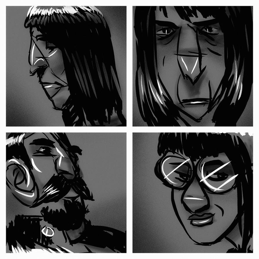 Doodling faces by Dumaker