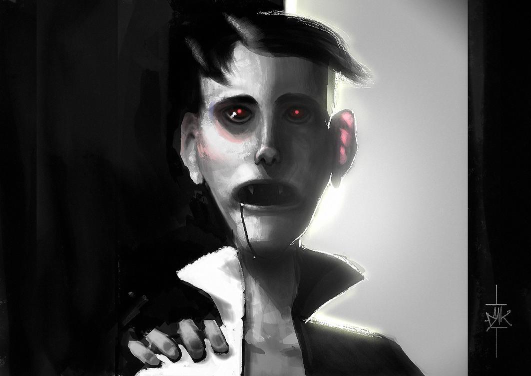 Vampire noob in club by Dumaker